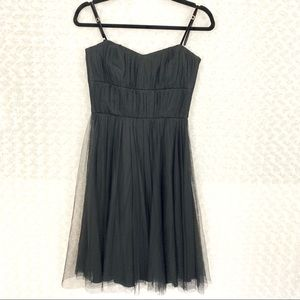 Banana Republic Silk Spaghetti Strap Party Dress